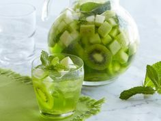 Get Green Melon-Mint Sangria Recipe from Food Network