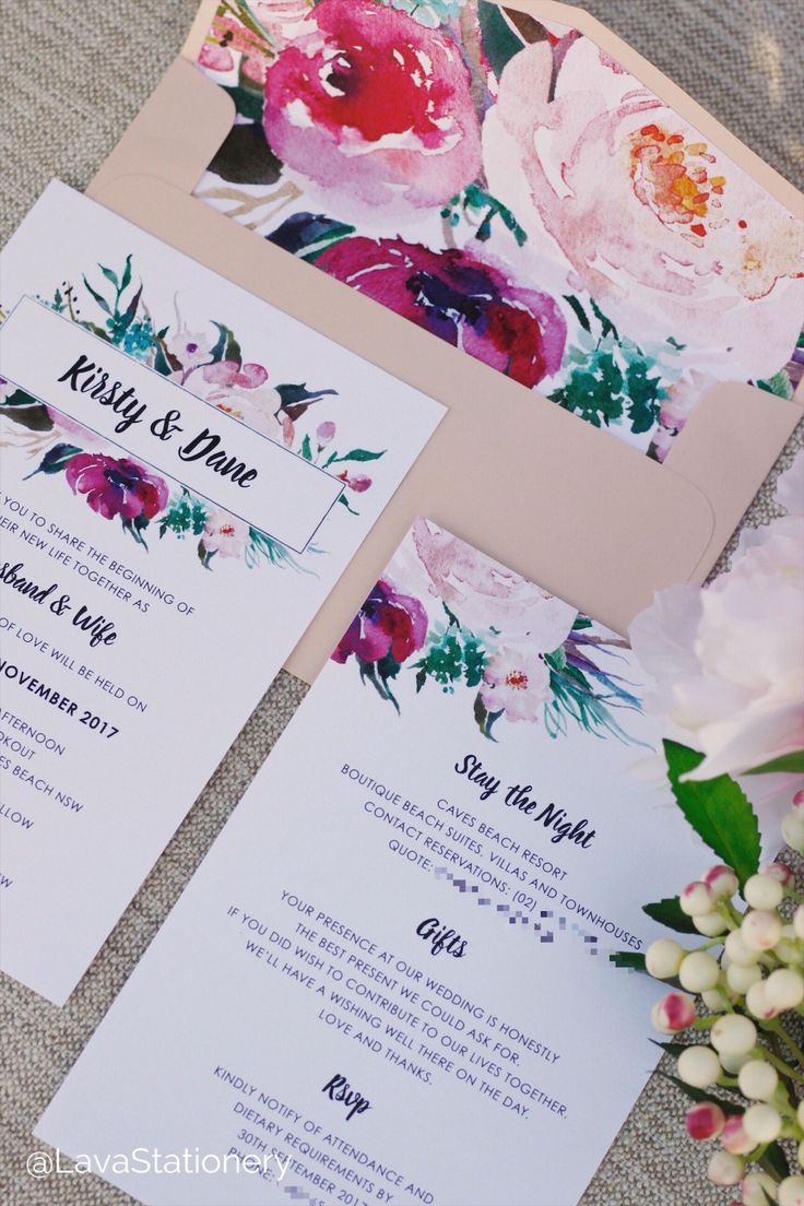 Here are some pretty invites printed for