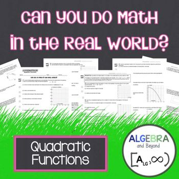 1669 best math high school images on pinterest calculus quadratic functions real world applications fandeluxe Images