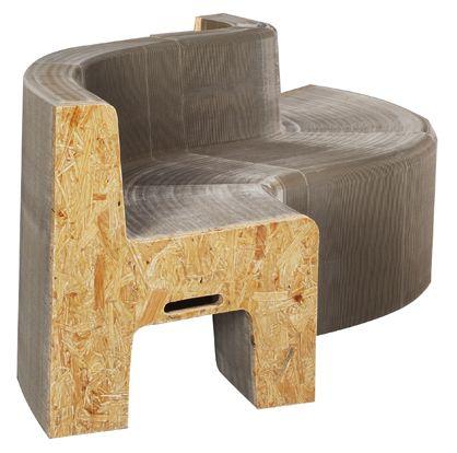 flexible cardboard/particleboard folding chair