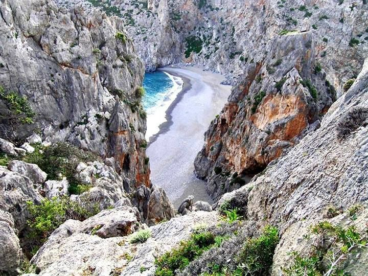 Agiofrago in Crete #Greece: The southernmost climbing area in Crete is Agiofarago. The area's characteristic is the rock, which is very sharp, along with the combination of climbing, swimming and walking