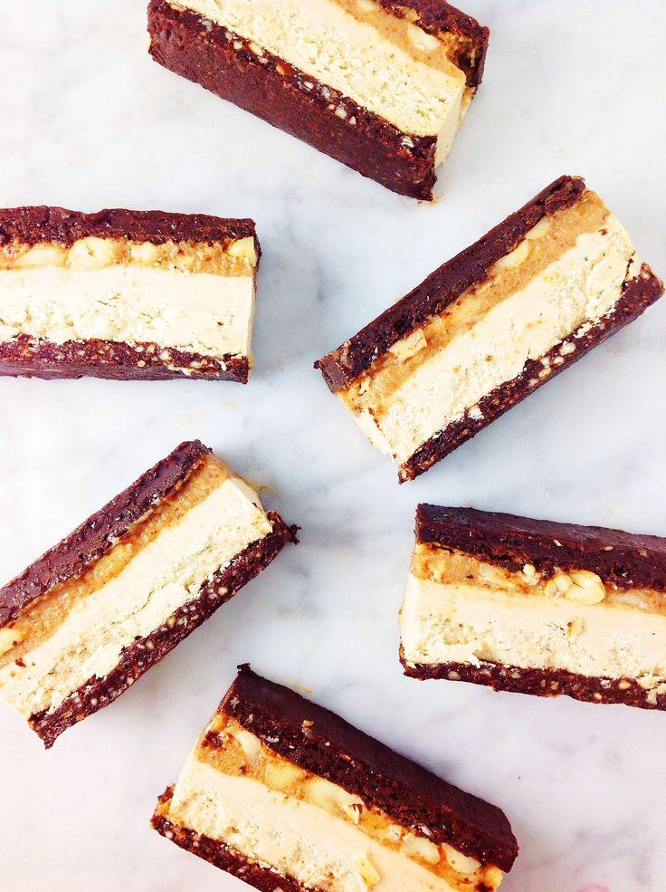Raw vegan snicker slice