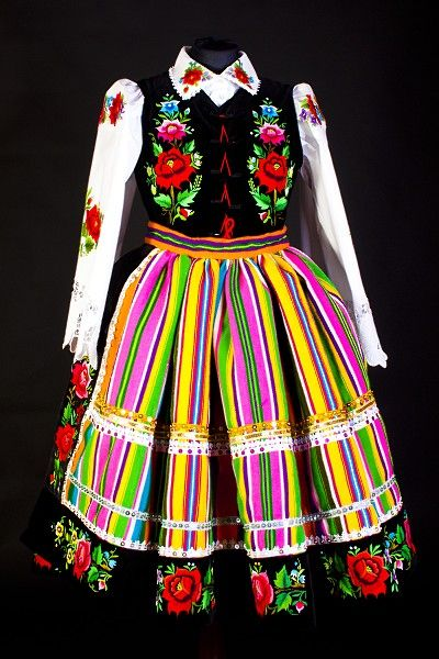 Folk costume from Łowicz, Poland