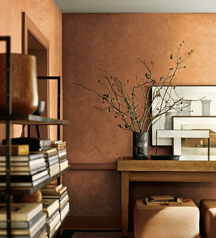 Ralph Lauren Paint Speciality Finish: Evokes the beauty of brushed suede with rich, authentic character. Light is reflected and absorbed, transforming your home with luxurious texture and the sophisticated glamour for which Ralph Lauren is known.