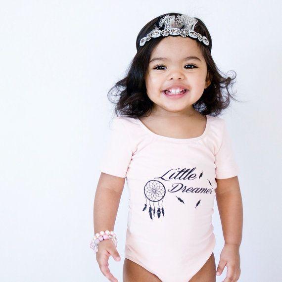 Toddler Leotard  Baby Girl's Pink Leotard  by GiggleThreadsShop