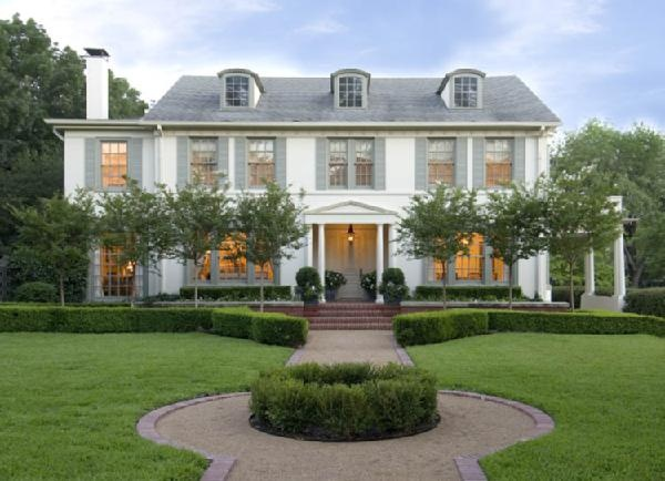 white house gray shutters