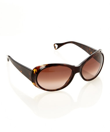 Take a look at this Espresso Naughty n Nice Sunglasses by Betsey Johnson on #zulily today!
