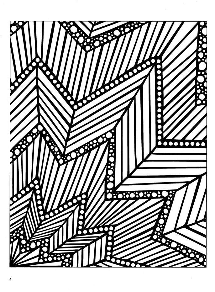 Mosaic Madness, 3-D Coloring Book from Dover | Abstract ...