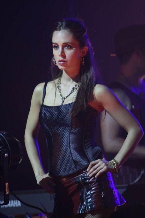 Dollhouse as dushku in eliza dominatrix leather