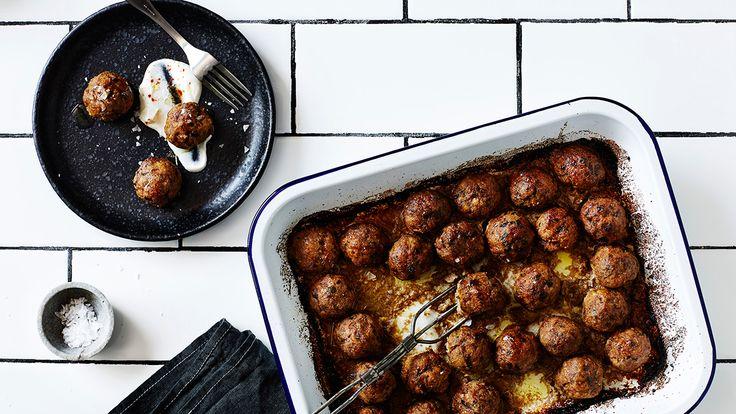 Lamb, almond, saffron and honey meatballs