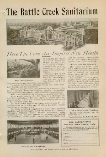 Battle Creek Sanitarium ad