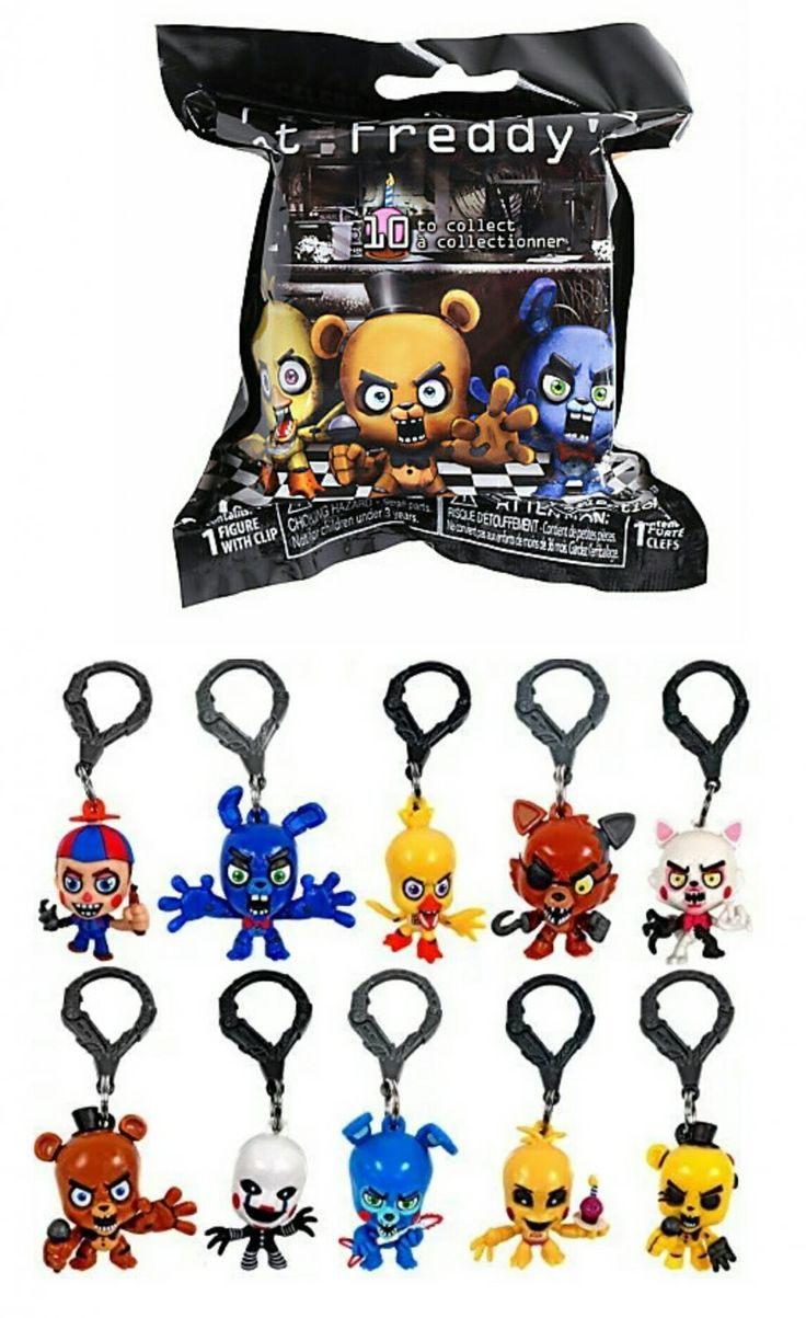 Fnaf Five Nights At Freddy S Collector 3 Quot Clips Hangers