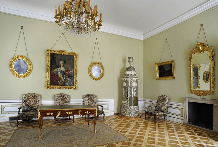 "Princess Marshall Lubomirska's Anteroom in the Wilanów Palace was rearranged for Izabela Lubomirska ""The Blue Marquise"" between 1781 and 1794 by Szymon Bogumił Zug"