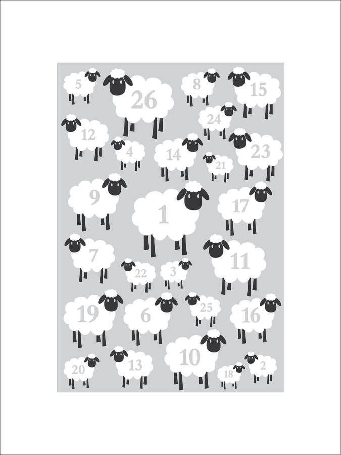 Counting Sheep Nursery Print By Leonora Hammond