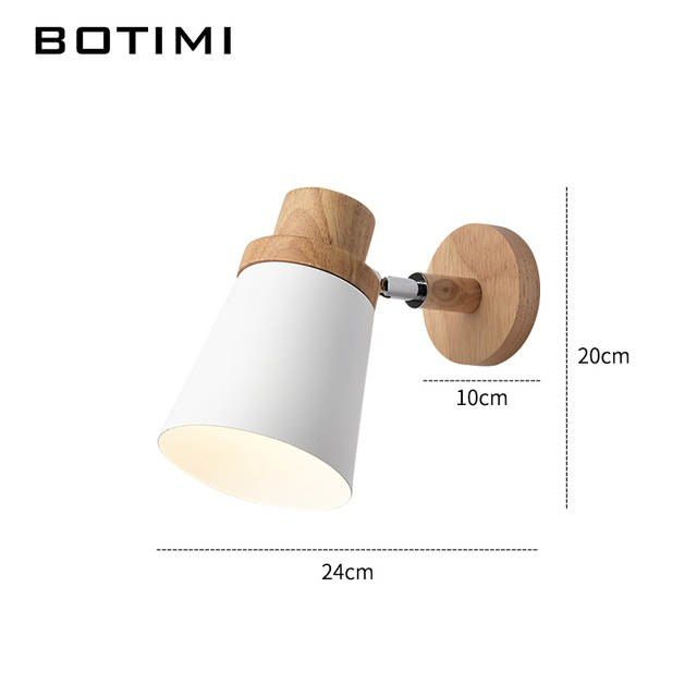 Botimi Nordic Led Wall Lamp For Bedroom, Bedside Reading Wall Lamps