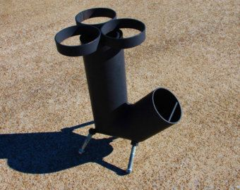 Rocket Stove Self Feeding Gravity Feed Design all by ironoflife