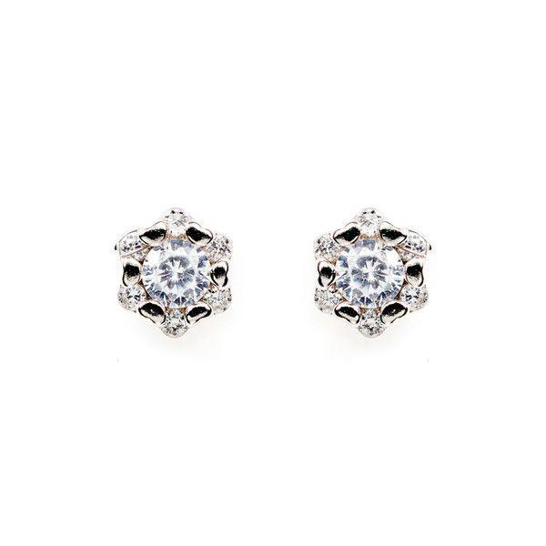 Spring Fling Floral Rhinestones Stud Earrings