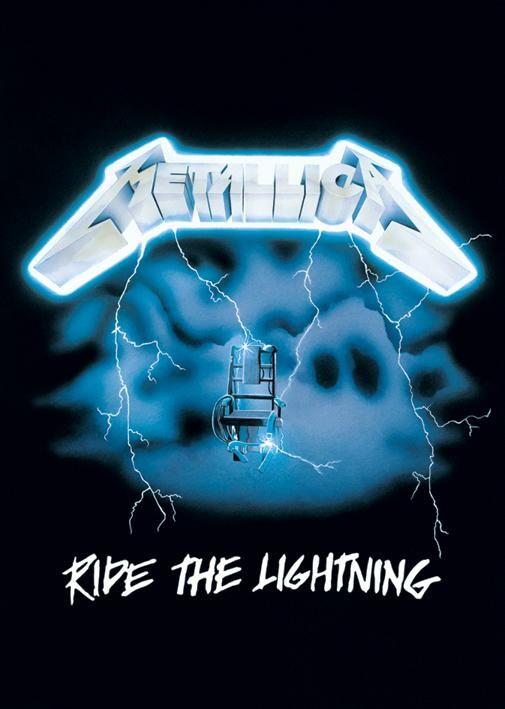 metallica artwork   Metallica posters - Metallica Ride The Lightning poster LP1204 - Panic ...