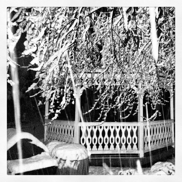 #Columbus #Ohio Heavy #White #Powder #Snowfall #Gazebo #Snow #Instamood #Instagram #Winter #Weather #Advisory #PicoftheDay - @bodoubleb- #webstagram