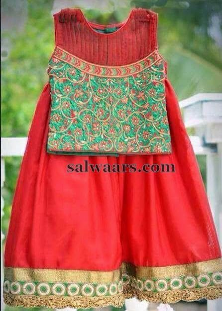 Thread work Blouse with Skirt - Indian Dresses