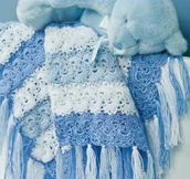 Blue Stripe Baby Blanket free crochet graph pattern