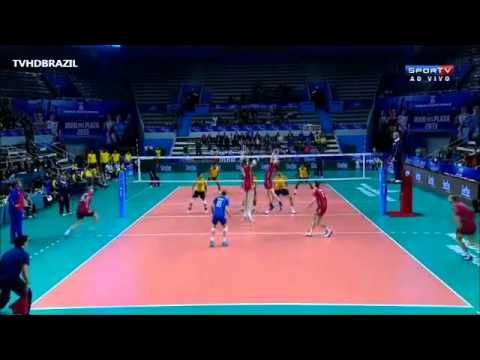 YouTube - Brasil vs Rússia - 3º Set - Fase Final - Liga Mundial de Volei 2013