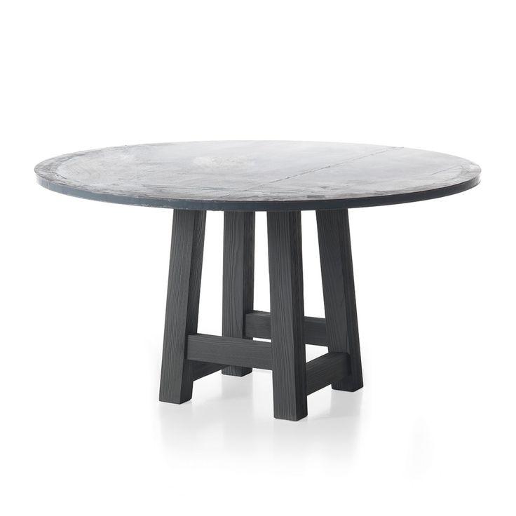 Tavolo rotondo in zinco GB313