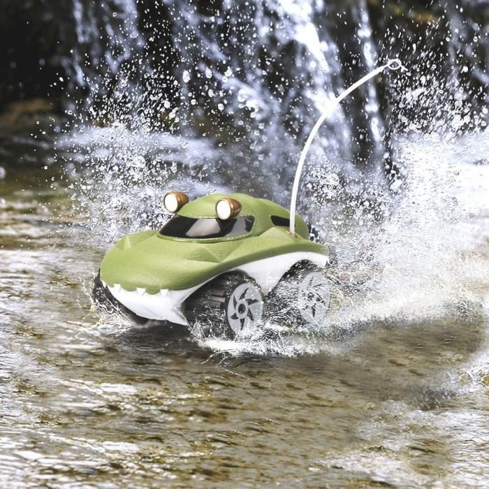 Amphibious RC Truck Morphibians Gator. Remote Control -  Land  Water RC Amphibian Vehicle Goes Anywhere: Powerful RC 4x4 car drives through water dirt mud sand pavement and grass. - Check it out here: https://geekify.me/product/Amphibious-RC-Truck-Morphibians-Gator.-Remote-Control #geekifyme