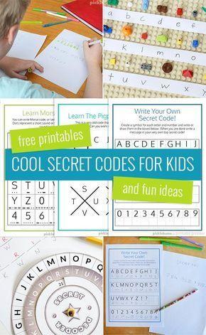 Cool Secret Codes For Kids – Free Printables