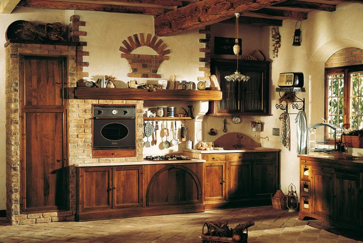 Marchi Group - Doralice Rustic kitchen in solid wood - designed kitchen in masonry - Country style