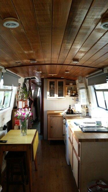 Kitchen On A Bright November Morning Narrowboat Love