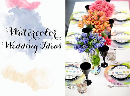 Soirees Southern Events Planning | { Watercolor Trends }