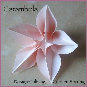 carambola origami (links to tutorial video or diagram)