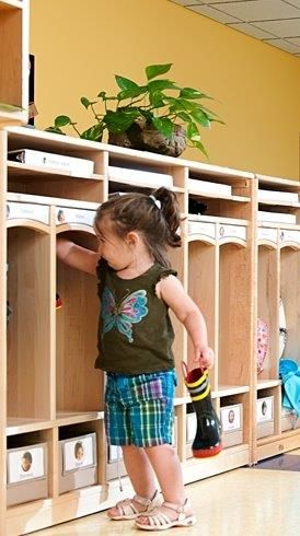 Beautiful toddler cubbies