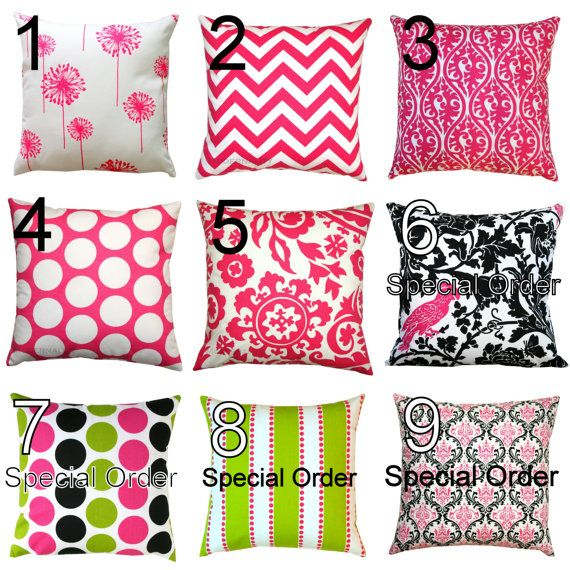 AUTUMN SALE Premier Prints Candy Pink Pillow Cover by Modernality2, $14.95