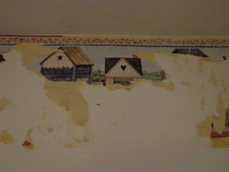 How to Remove Wallpaper Border--I will be needing this for the new house!