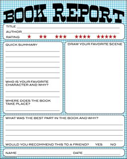 TeachingintheSunshine: Free Book Report Printable