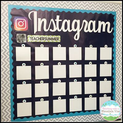 Instagram board and accountable talk bubbles--Teaching With a Mountain View: A Peek into my {In Progress} Classroom Set Up