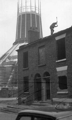 Liverpool demolition, 1966  This is when they destroyed the sense of community in the City.Neighbours looked after neighbours,nobody was ever left alone as they are now .Christine