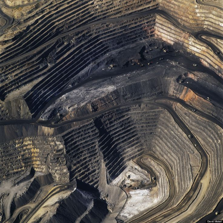 David Maisel's Photographs Of Open Pit Mines Are Eerily Beautiful