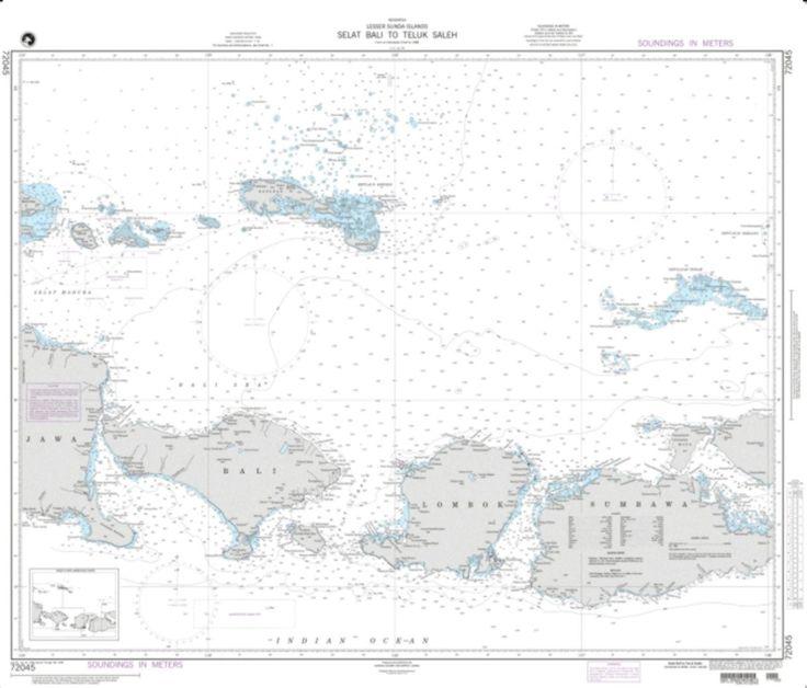 Selat Bali To Tembuk Saleh Nautical Chart (72045) by National Geospatial-Intelligence Agency