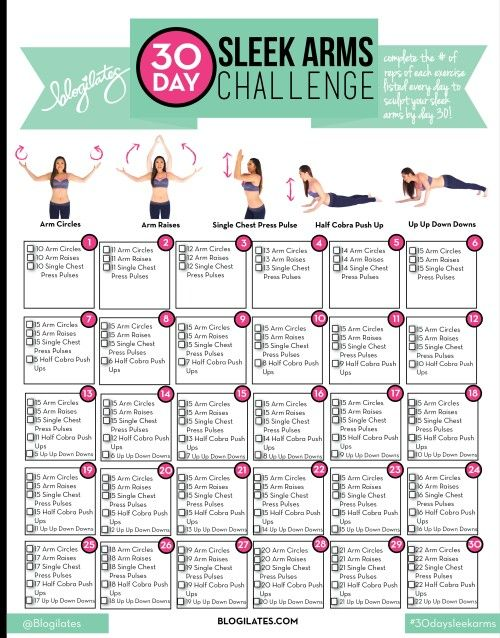 30 Day Sleek Arms Challenge     Blogolaties    By Casey Ho! ❤