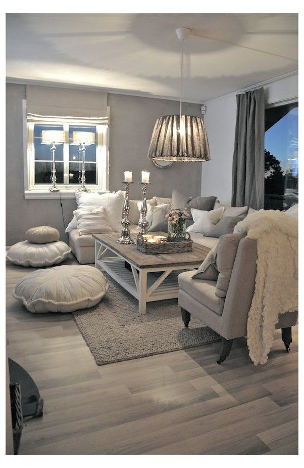 35 Super Stylish And Inspiring Neutral Living Room Designs Cosy Grey Living Room Cushions Cosyg In 2021 Living Room Grey Chic Living Room Shabby Chic Living Room