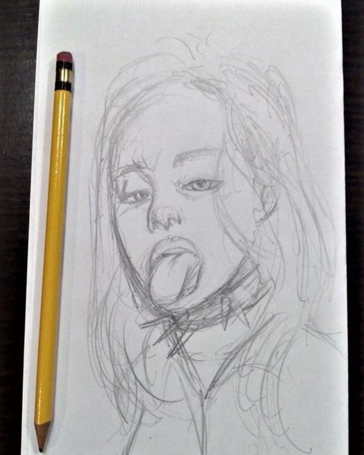 emm hello I made this little billie eilish doodle she is ...