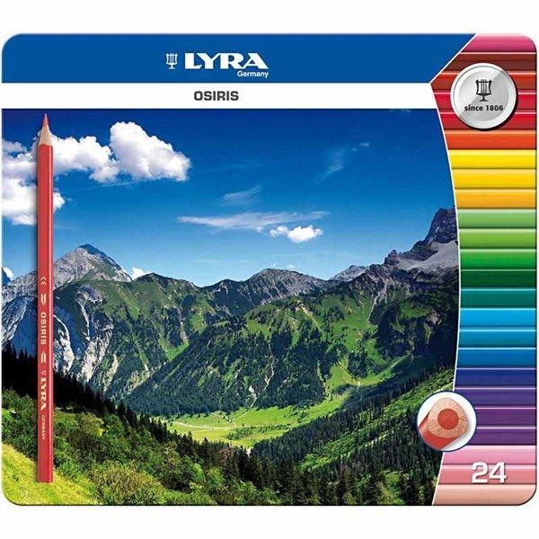 9,10€ Lyra Osiris värikynät, 3 mm, pit. 18 cm, 24 laj. Tai muut värityskynät EI muumi puuvärikyniä.