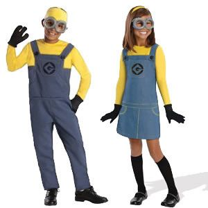 Kids minion Halloween costumes. Great costume idea for 2015 after the huge hit Minion movie!