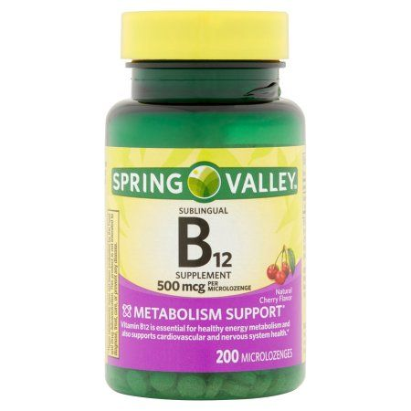 Free 2-day shipping on qualified orders over $35. Buy Spring Valley Sublingual B12 Microlozenges, 500 mcg, 200 count at Walmart.com