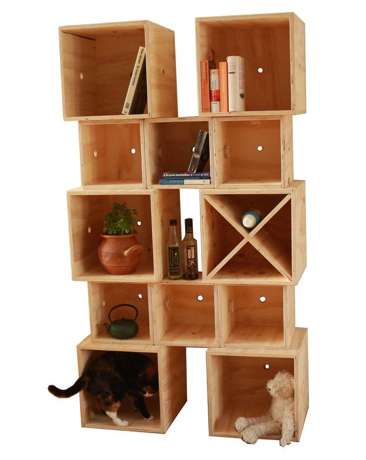 Meubels van Koen - Kubus-kast! Een nieuw systeem van houten kubussen...