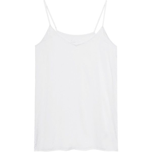 JADICTED Silk Satin White // Silk camisole top (9.740 RUB) via Polyvore featuring tops, silk camisole top, white cami top, white camisole, white silk top и white top