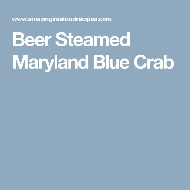 Beer Steamed Maryland Blue Crab